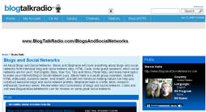 Blogs and Social Networks Blog Talk Radio