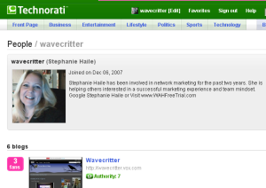 Technorati Wavecritter