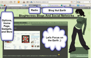 Blog Nut Toolbar Earth